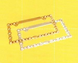 Japan Size Diamond License Frame